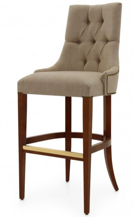 Edoardo Bespoke Upholstered Italian Bar Stool MS0410B Custom Made-To-Order
