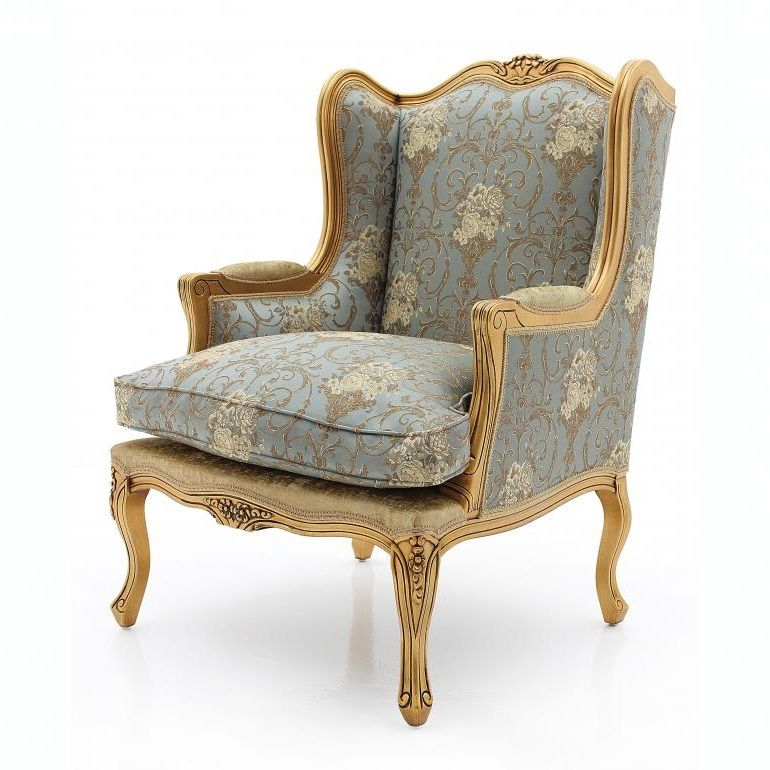 Francais Wingback Bergere Armchair MS9796P Bespoke & Custom Made-To-Order wing chairs millmax interiors