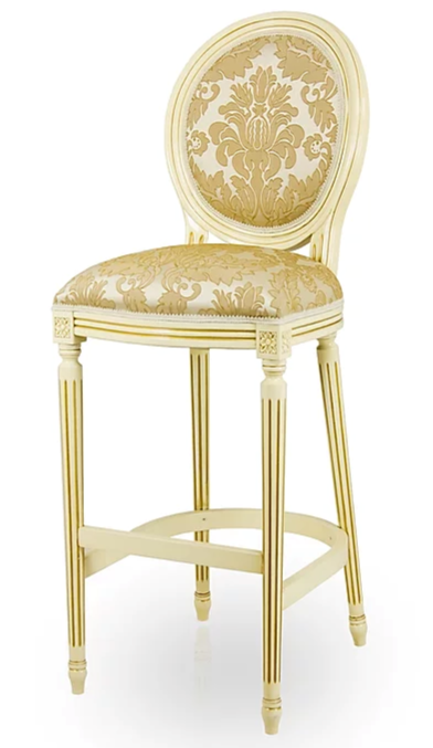 Louis-Auguste Bespoke Upholstered Bar Stool MS0252B Custom Made-To-Order