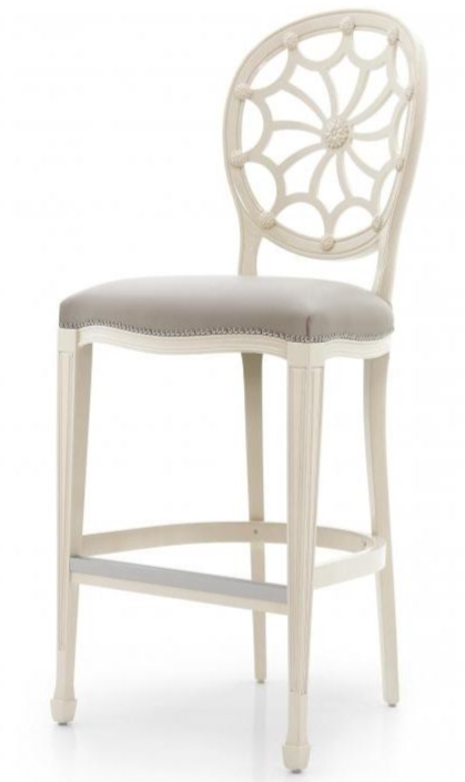 Ragnatela Hepplewhite Bespoke Upholstered Bar Stool MS0706B Custom Made-To-Order