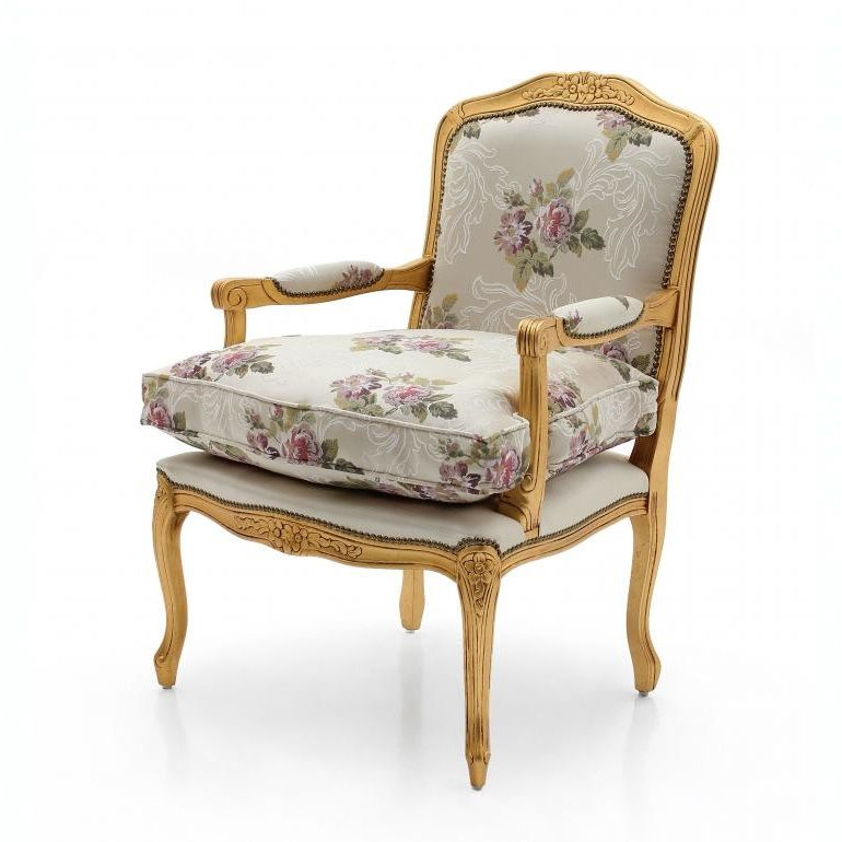 Shayk Bespoke Upholstered French Armchair MS9261P Custom Made-To-Order armchairs Millmax Interiors Furniture Sale UK