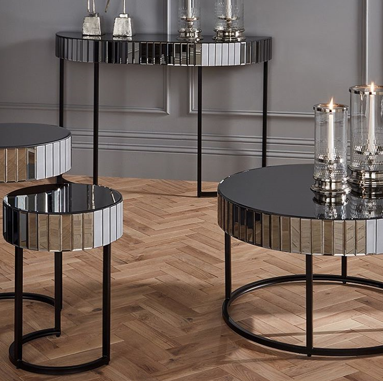 Veneziano Nest Of Mirrored Side Tables MP79-020